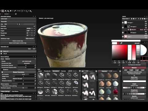 PAINTING THE OIL BARREL IN SUBSTANCE PAINTER