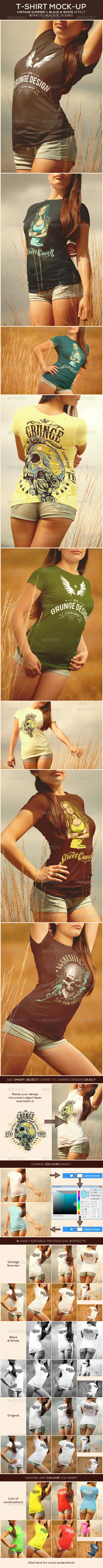T-Shirt Mock-Up | #tshirtmockup #t-shirtmockup #mockups | Download: http://graphicriver.net/item/tshirt-mockup/8753129?ref=ksioks