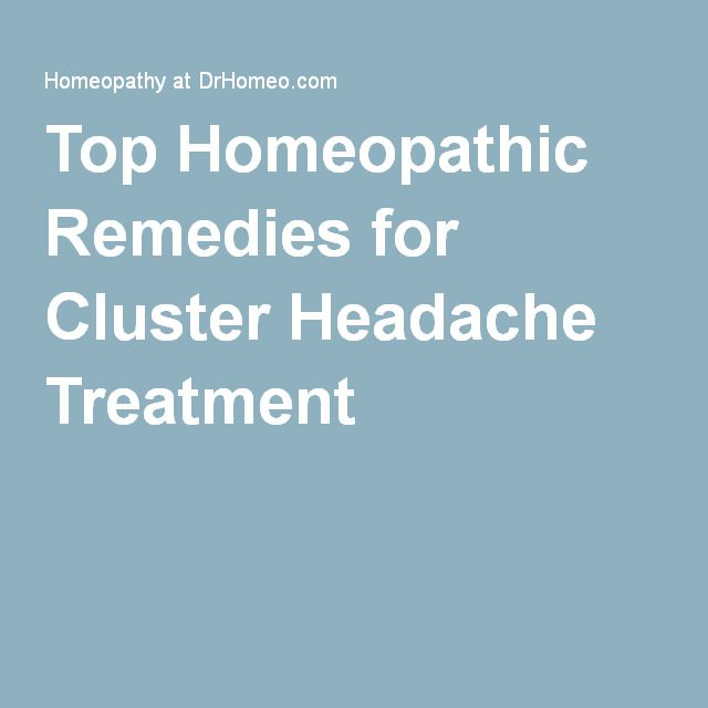 Get paid to cure your cluster headaches with this new study/trial! Top Homeopathic Remedies for Cluster Headache Treatment