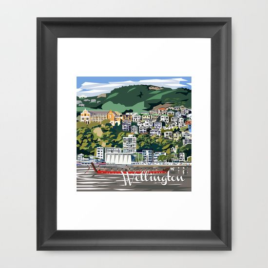 Wellington framed print for sale http://society6.com/product/wellington-harbour-nz_framed-print#12=60&13=55