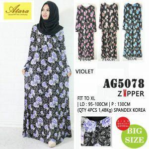 Baju Gamis Muslim Lengkap: grosir pakaian formal AG5078
