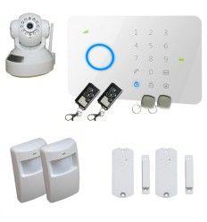 Alarme Maison sans fil GSM 2/3 pièces + Caméra IP Wifi