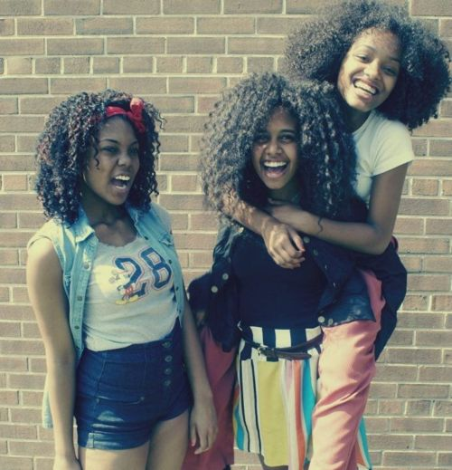 Natural Hair young girls. Beautiful curls and textures.