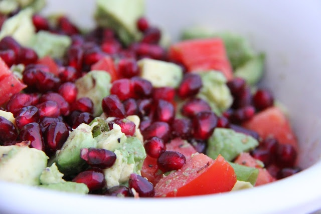 """A Bountiful Kitchen: Sheri's Pomegranate Avocado Salsa. This just screams """"Exotic and Delicious"""" to me!"""