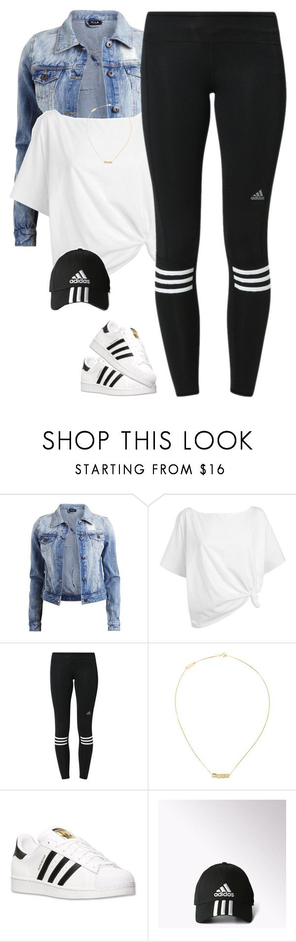 """""""Adidas*"""" by thatchickcrazy ❤ liked on Polyvore featuring Vila Milano, Red Herring, adidas and Yves Saint Laurent"""