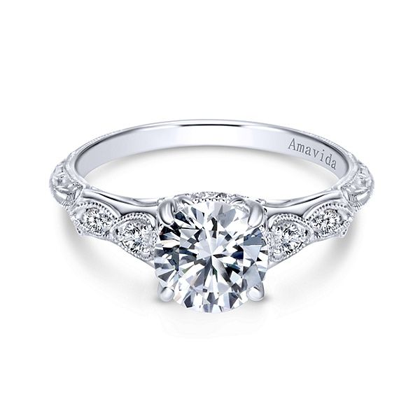 Gabriel - Chelsea Platinum Round Straight Engagement Ring