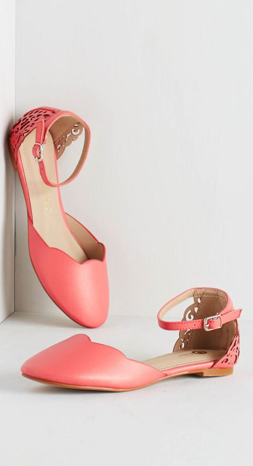Scalloped coral flats...perfect for spring