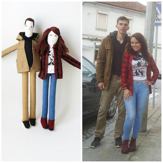 Portrait couple dolls personalized cloth dolls 40cm by FulBelSic
