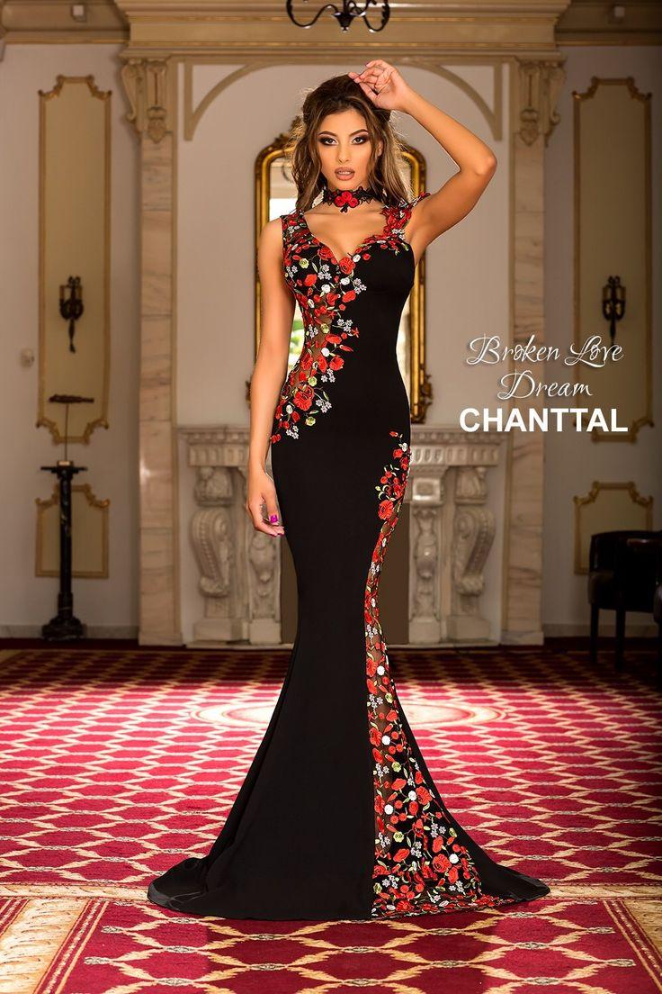 Chantal deluxsory gowns floor length sequin replica bride wedding dress gown pro…