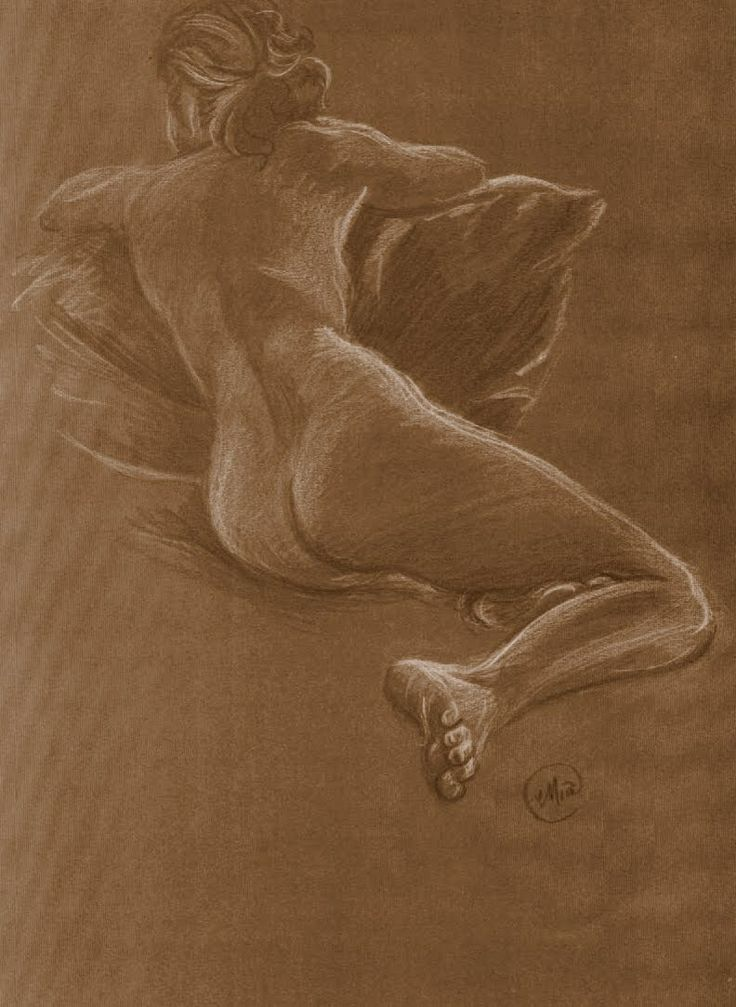Life drawing, white pencil