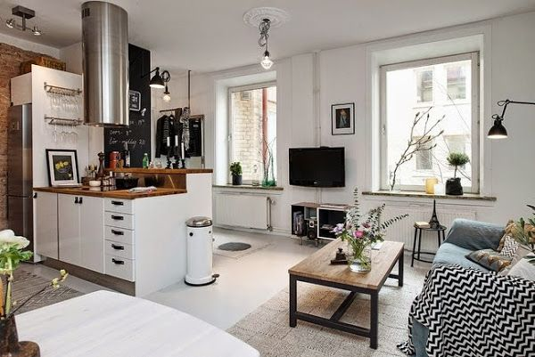 (1/3)Vivir en un apartamento de 1 habitación pero así de bonito... se lo perdonamos y todo! | Decorar tu casa es facilisimo.com