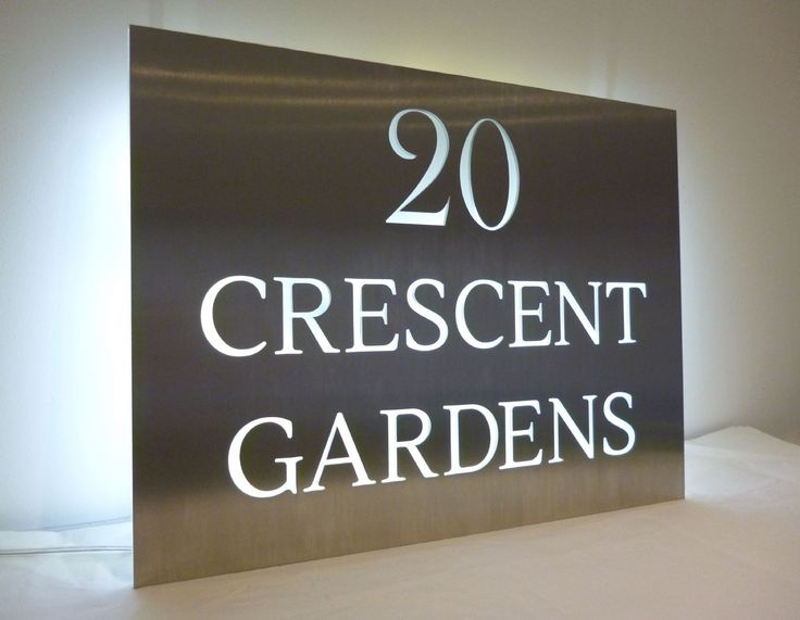 28 best House sign images on Pinterest House number signs House