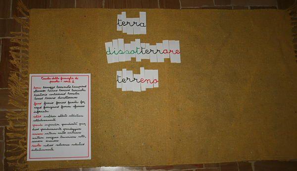 famiglie di parole Montessori 1