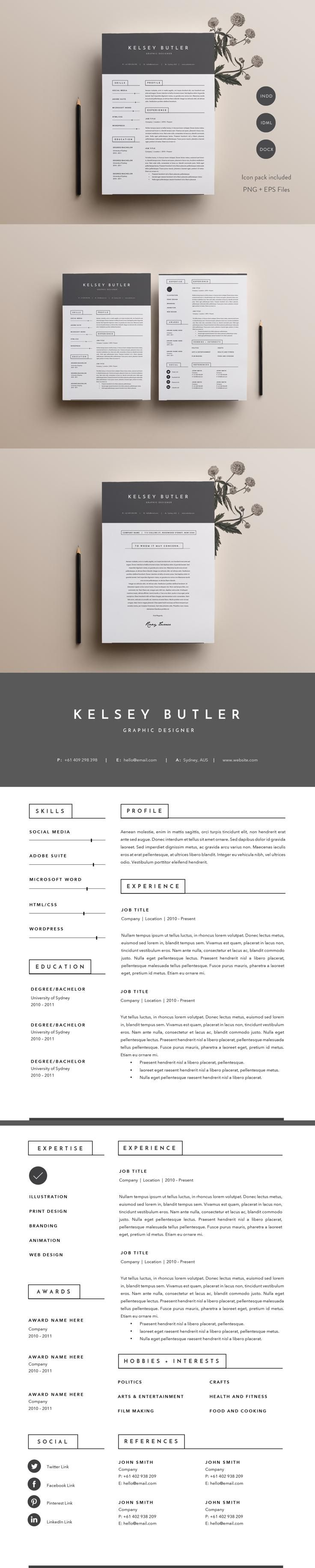 graphic design resume objective%0A  resume  design from Papernoon   DOWNLOAD  https   creativemarket com