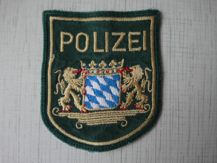 German Police Patch Polizeipräsidium München Polizei Bayern Germany New Rarity