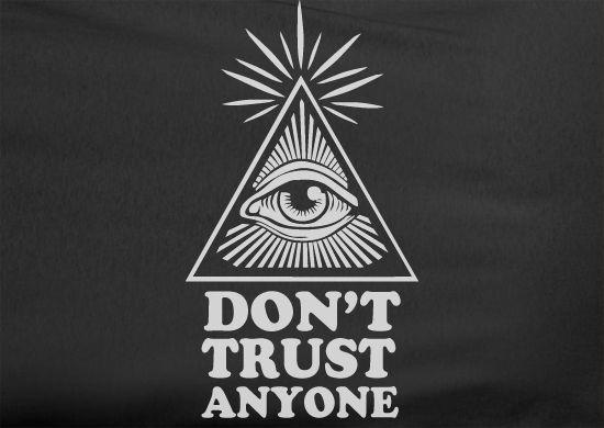 Trendy Pop Culture Funny US Dollar money illuminati don't trusty anyone government hip hop jay z hip hop rap Tee T-Shirt tshirtLadies Youth Unisex