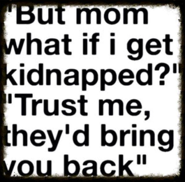 de dingen van een moeder met een 'puber' |