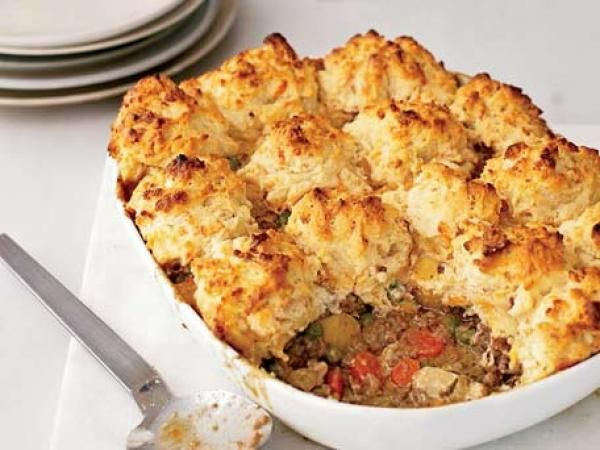 Beef-and-Vegetable Potpie with Cheddar Biscuits | KitchenDaily.com I ...