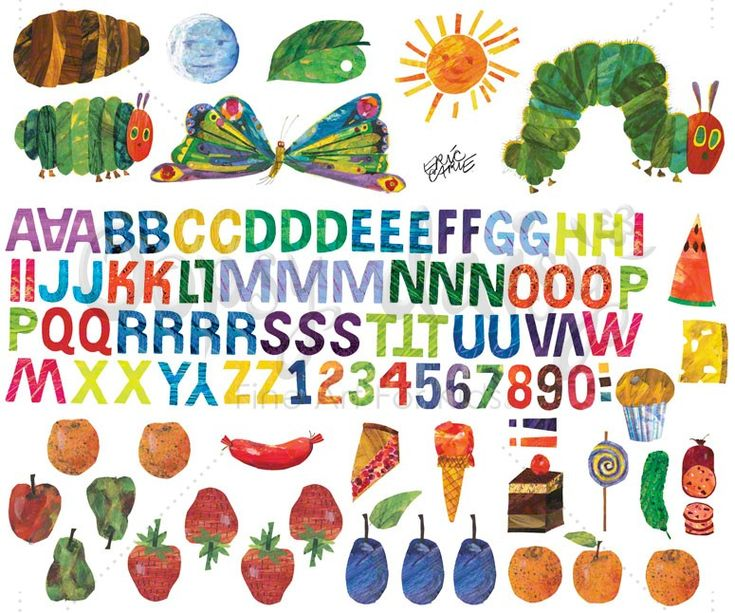 Eric Carle's Very Hungry Caterpillar (TM) - Alphabet & Numbers Peel & Place | Oopsy daisy --- perfect for a classroom!