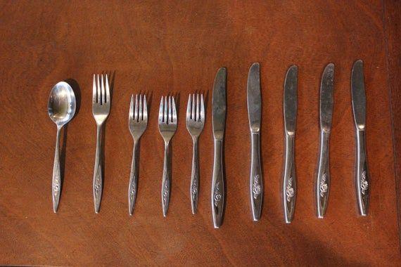 Vintage ONEIDA LASTING ROSE Oneidacraft Stainless Steel Cutlery Various Pieces