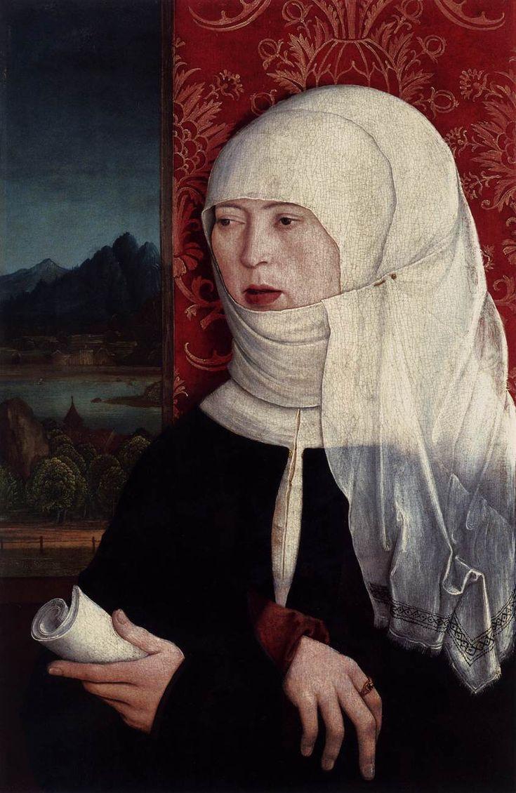 STRIGEL, Bernhard Portrait of Martha Thannstetter (née Werusin) c. 1515 Oil on panel, 42 x 28 cm Liechtenstein Museum, Vienna