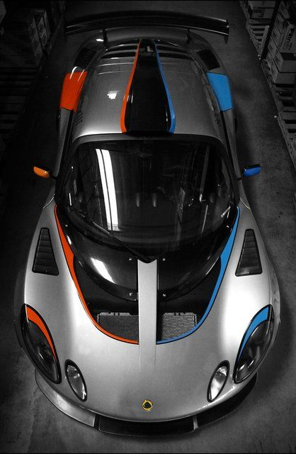Yes Please Fancy - Lotus Exige Gray Blue and Orange