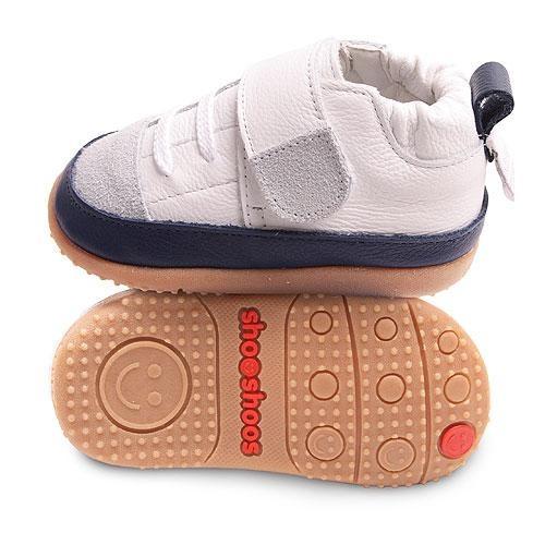 Navy & White Velcro   www.shooshoosuk.com