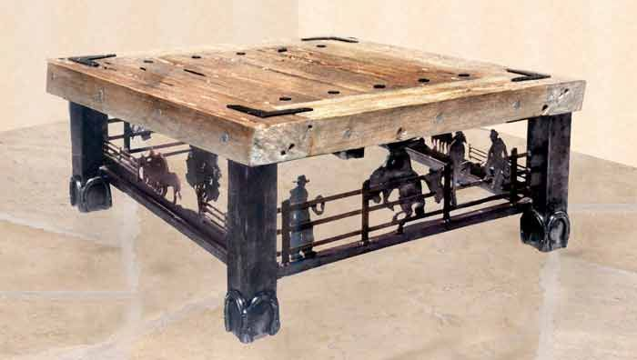 Old Western Coffe Tanles Coffee Table