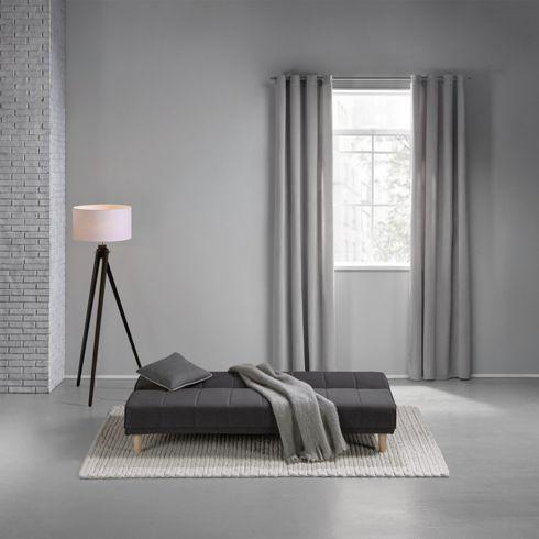Schickes Schlafsofa in Dunkelgrau - bequemes Sofa und Bett zugleich
