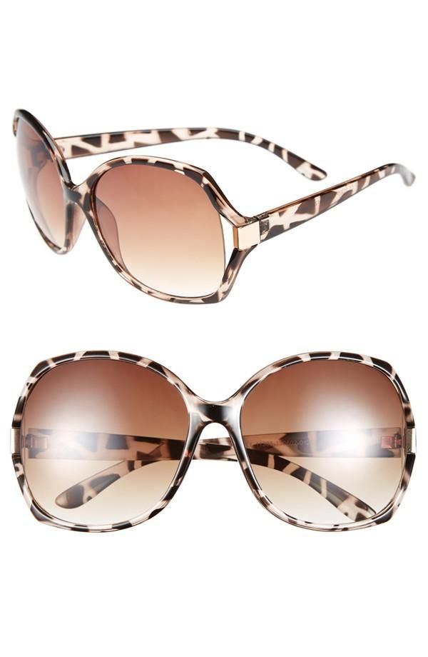 Wearing these oversized square sunglasses all summer long.