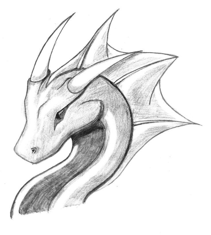 Нарисованные дракона картинки