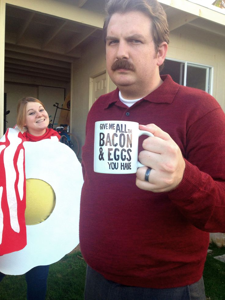 "2013 - Ron Swanson and ""all the bacon and eggs you have""   (Parks and Rec)  pregnancy costume!"