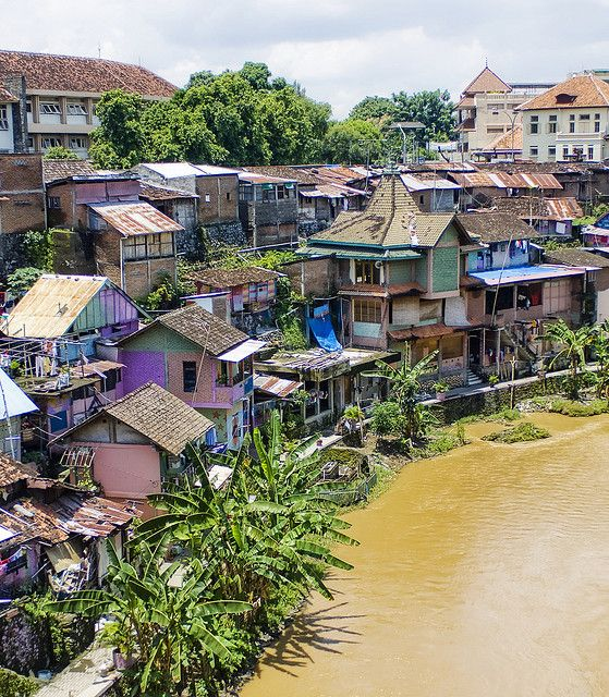 The Houses By The River, Jogjakarta, Indonesia