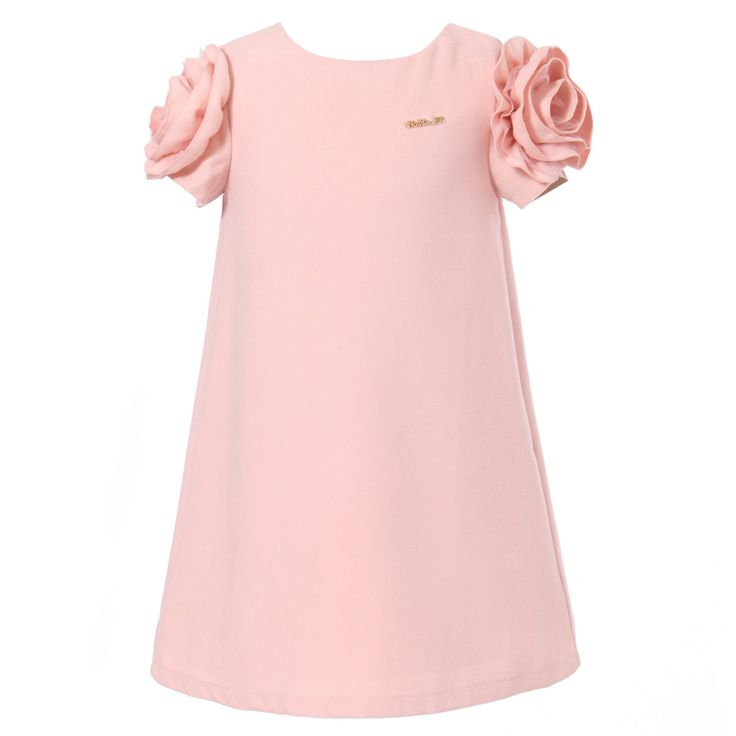 Amazon.com: Richie House Girls Dress with Flower and Metal Label: Playwear Dresses: Clothing