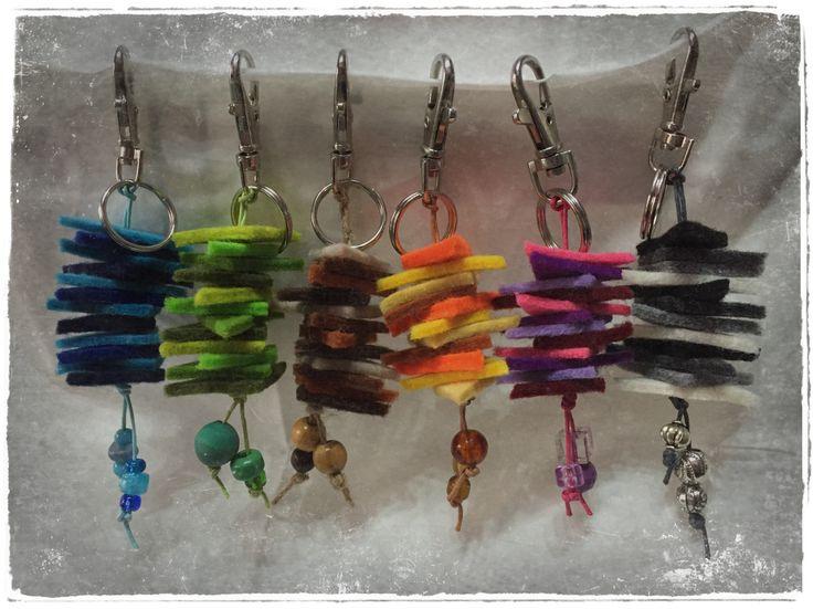 portachiavi feltro multicolor