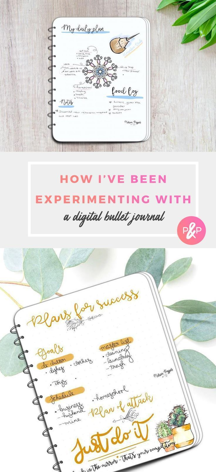 Experimenting with a Digital Bullet Journal  #bulletjournal #planner