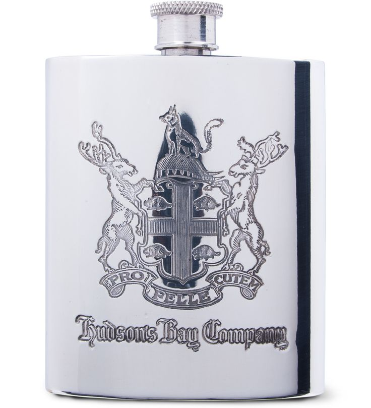 Hudson's Bay Company Pewter Keeping Canadians Warm Flask | HYPEBEAST Store.