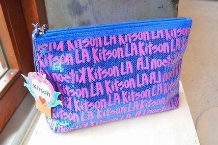 kitson ポーチ KITSON(キットソン) グラフィティ スパンコール コスメポーチ
