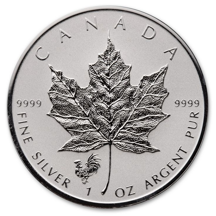 2017 Lunar Year of the Rooster 1 oz Privy Silver Maple Leaf