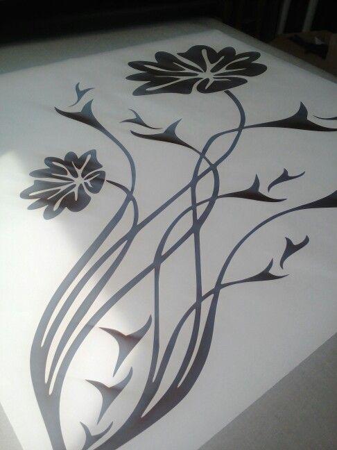 Giant flower wall decal for Bernadette