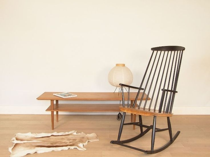 rocking chair scandinave vintage chaises int rieurs et chaises bascule. Black Bedroom Furniture Sets. Home Design Ideas