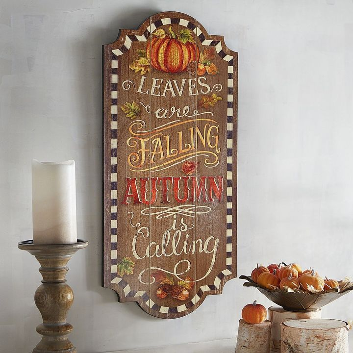 Can picture this beautiful sign above my mantle!   Leaves Are Falling Wall Decor  Affiliate