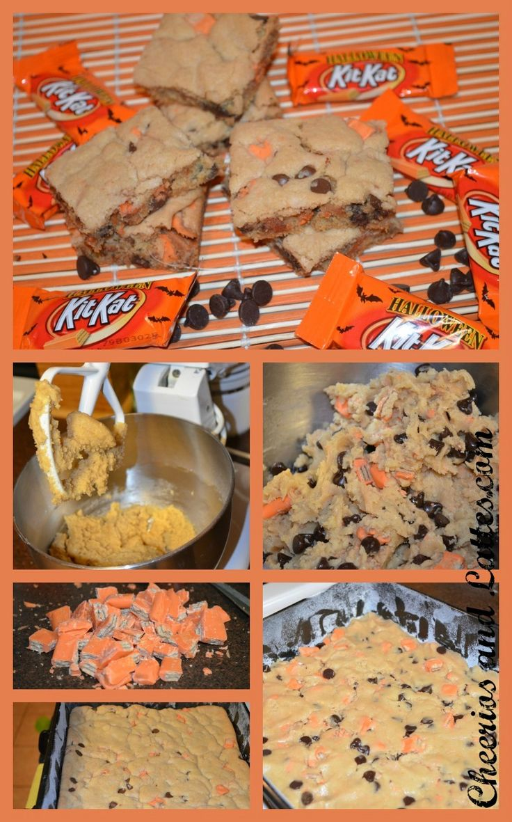 Kit Kat Cookie Bars!  Everyone at work LOVES Kit Kats....need to make these for everyone!