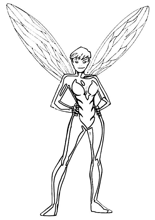 The Wasp Avengers Coloring Pages Avengers Coloring Coloring Pages