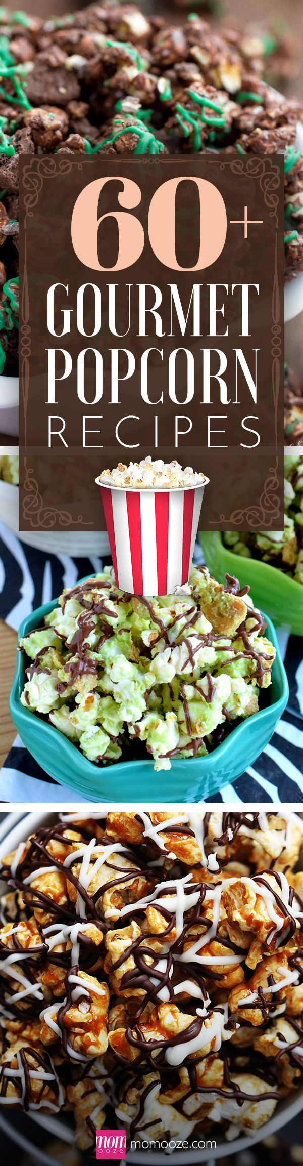 60+ Gourmet Popcorn Recipes to Spice up your Movie Night #popcorn #gourmet #movienight