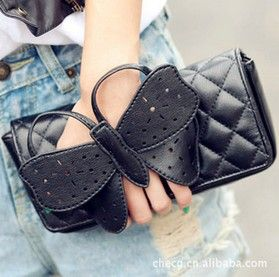 free shipping,brand 2014 Women's bow hand bag Messenger totes handbag female fashion butterfly one shoulder cross-body bags