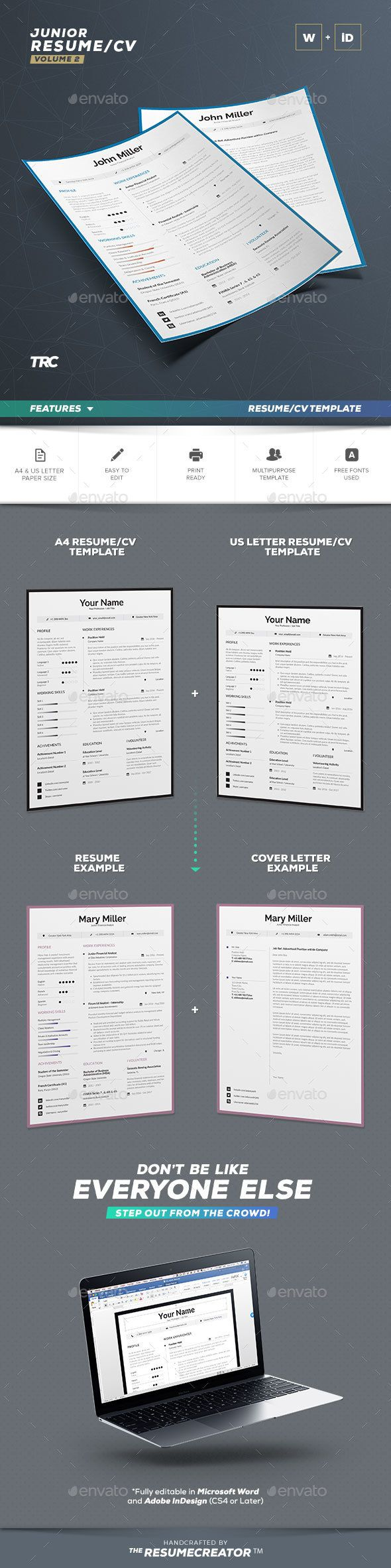 1255 best Resume images on Pinterest | Resume design, Curriculum and ...