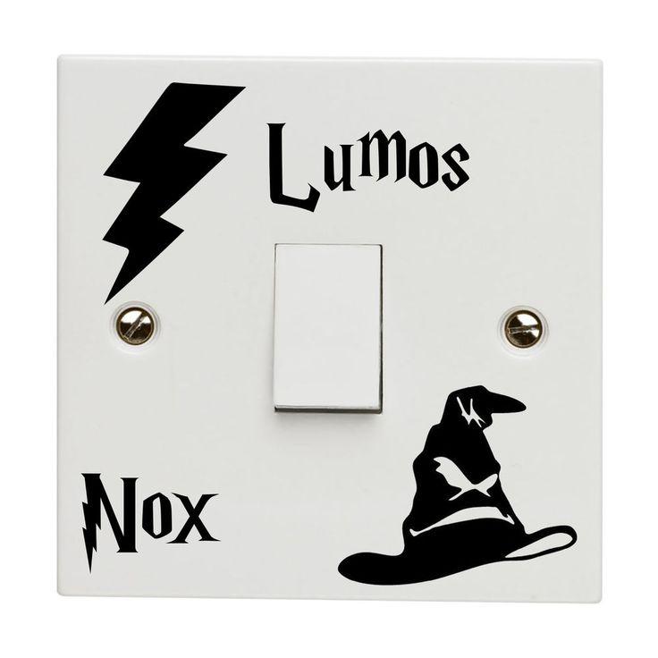 Harry Potter Light Switch Sticker Decal Lumus Nox Lightswitch Vinyl Bedroom Kids