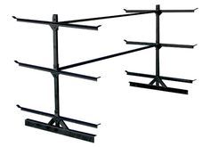 Here's a company that makes a bolt-on kayak rack for 4x8 utility trailers...