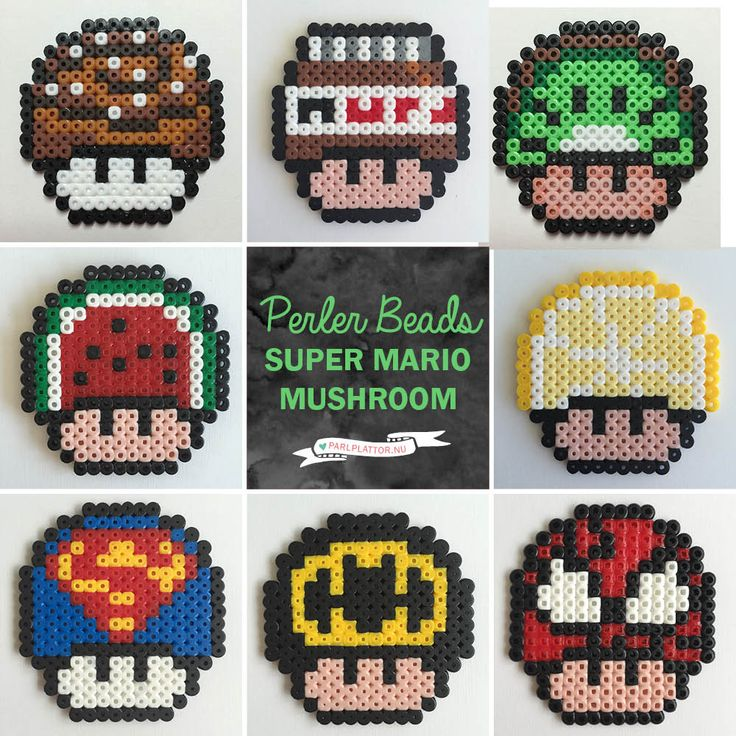 parlplattor-super-mario-svampar-perler-beads-mario-mushroom-1